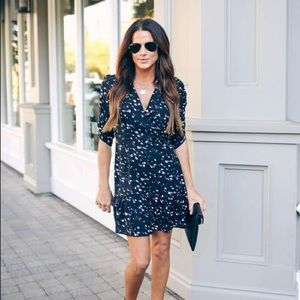 VICI Ruched Sleeve Dress